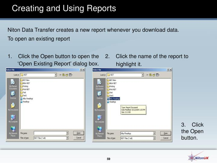 Creating and Using Reports