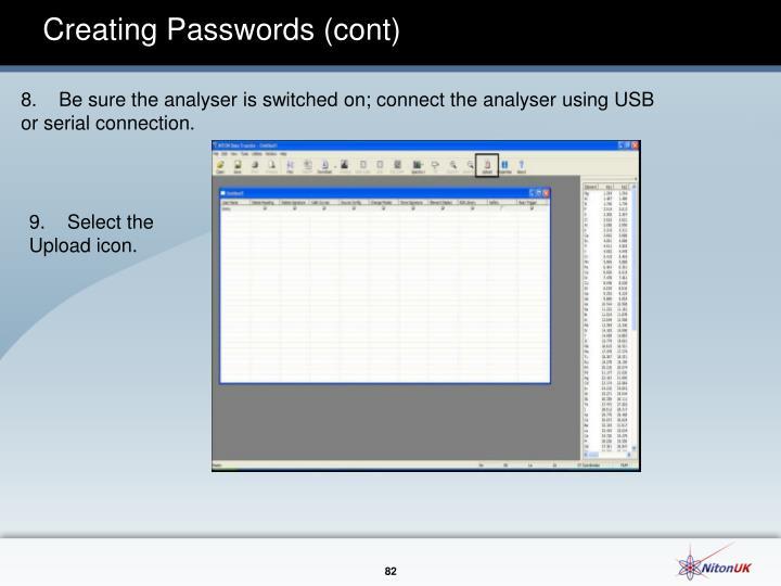 Creating Passwords (cont)