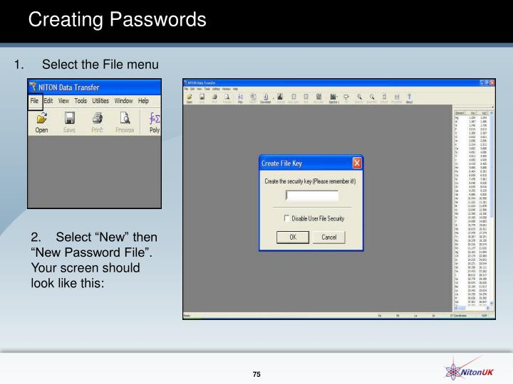 Creating Passwords