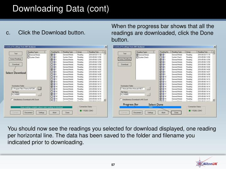 Downloading Data (cont)