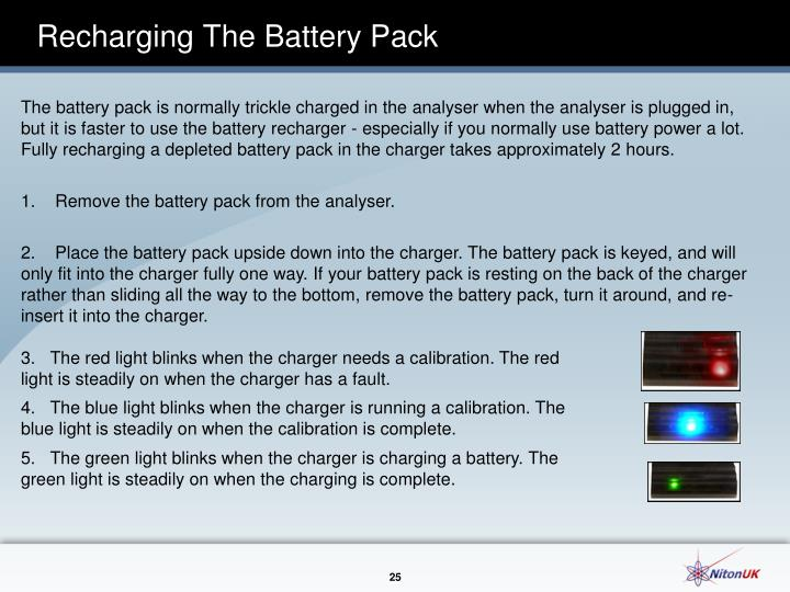 Recharging The Battery Pack