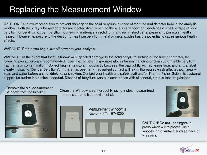 Replacing the Measurement