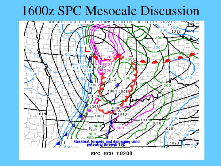1600z SPC Mesocale Discussion