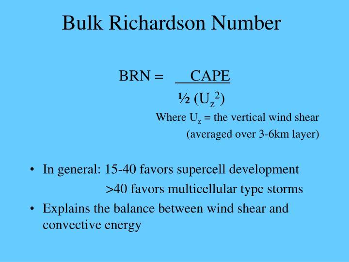 Bulk Richardson Number