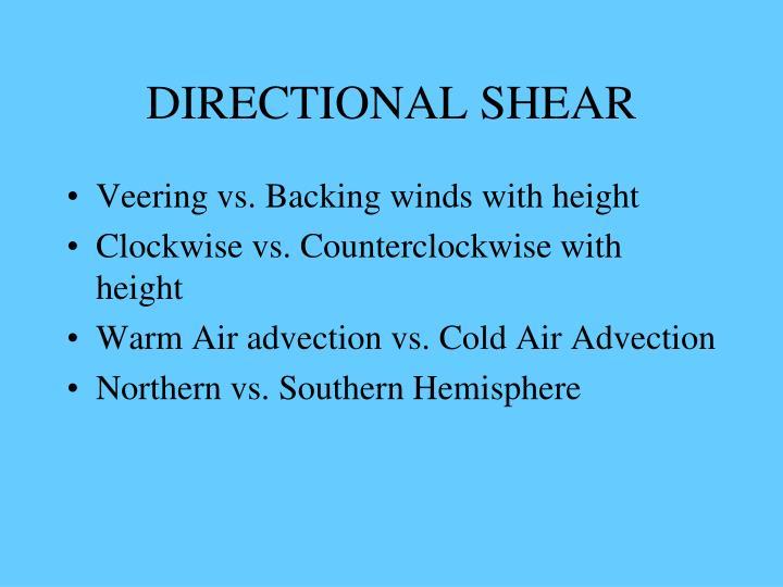 DIRECTIONAL SHEAR
