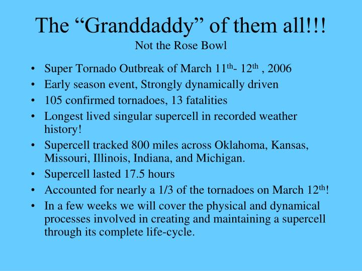 """The """"Granddaddy"""" of them all!!!"""