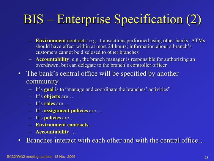 BIS – Enterprise