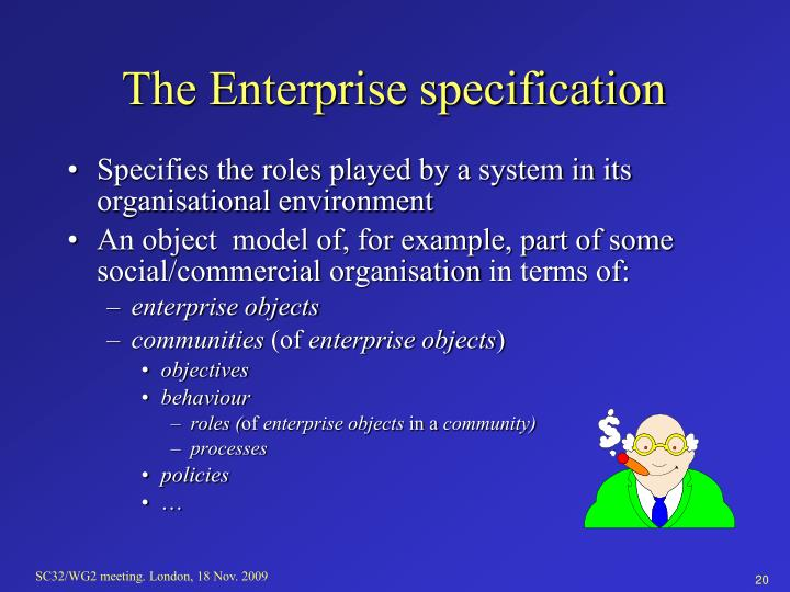 The Enterprise specification