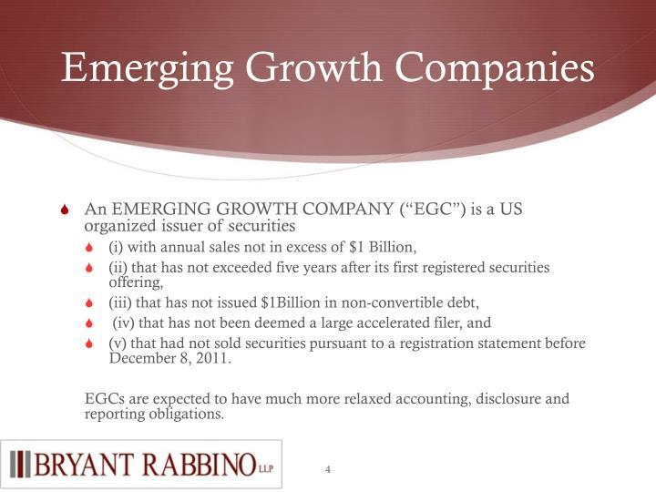 Emerging Growth Companies