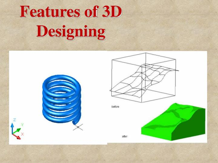Features of 3D