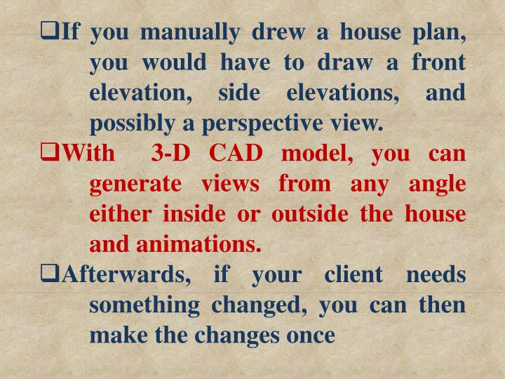 If you manually drew a house plan,