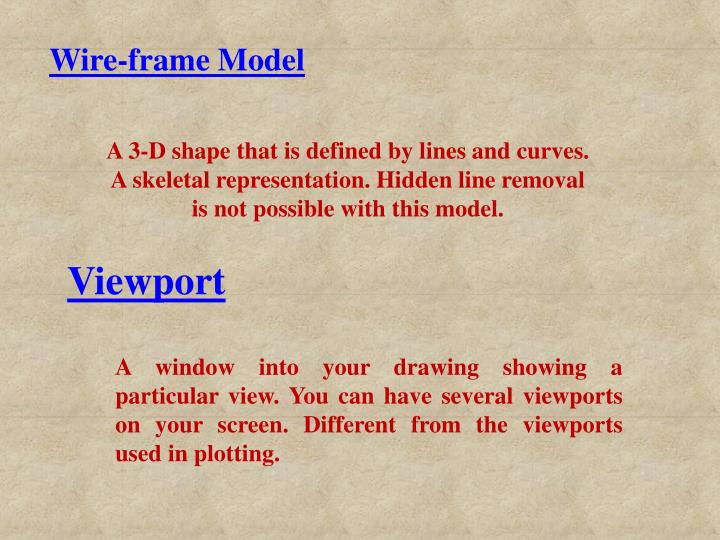 Wire-frame Model