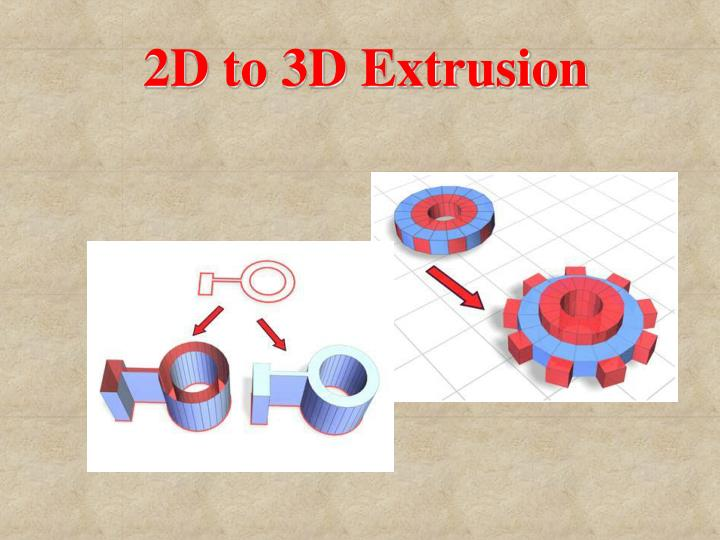 2D to 3D Extrusion