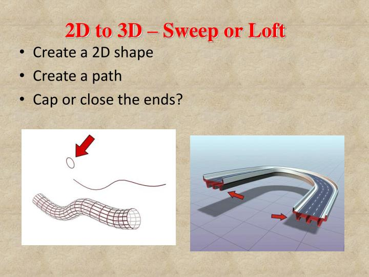 2D to 3D – Sweep or Loft