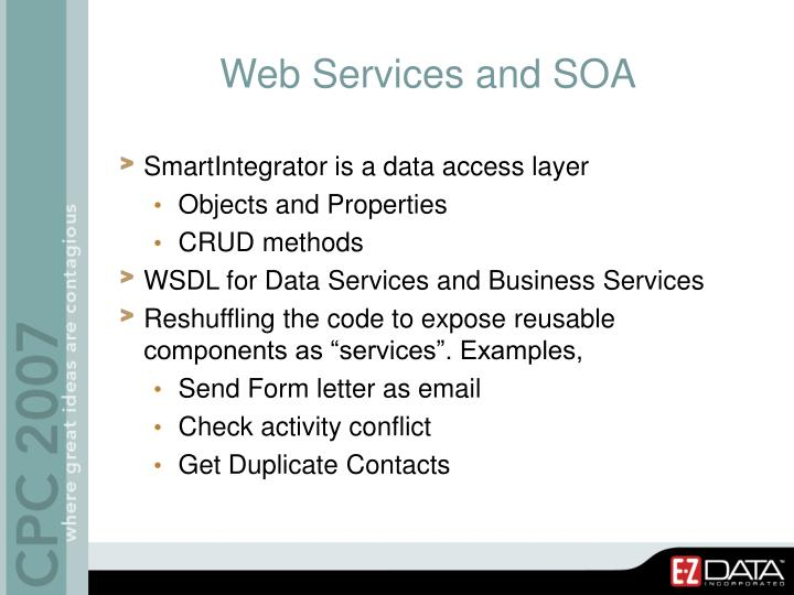 Web Services and SOA
