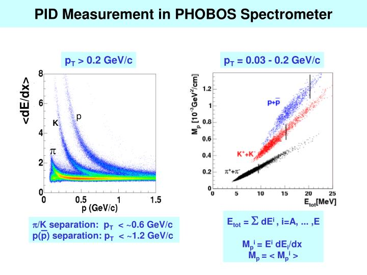 PID Measurement in PHOBOS Spectrometer