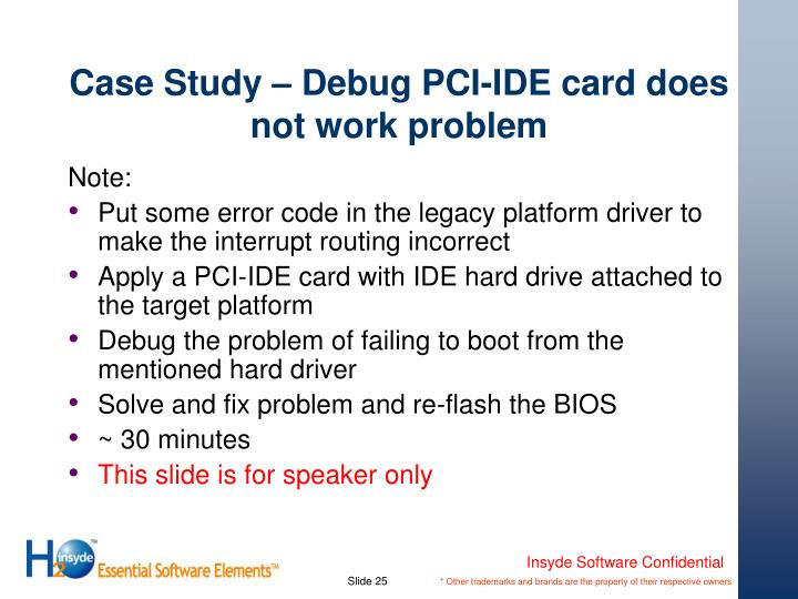 Case Study – Debug PCI-IDE card does not work problem