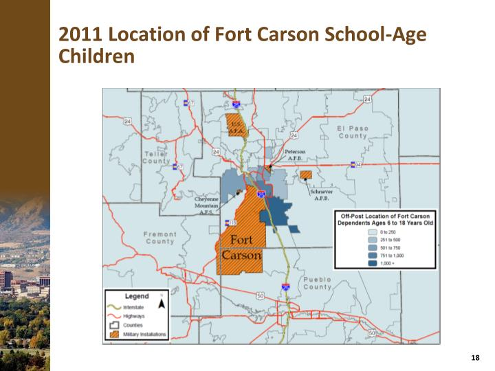 2011 Location of Fort Carson School-Age Children