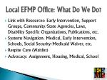 local efmp office what do we do