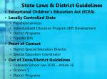 state laws district guidelines