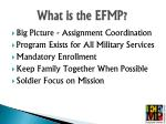 what is the efmp