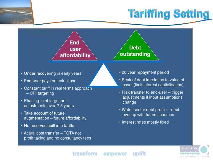 Tariffing Setting