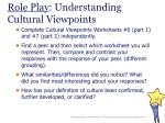 role play understanding cultural viewpoints