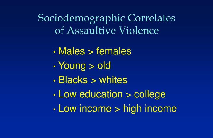 Sociodemographic Correlates