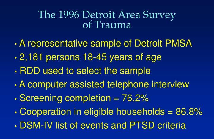 The 1996 Detroit Area Survey