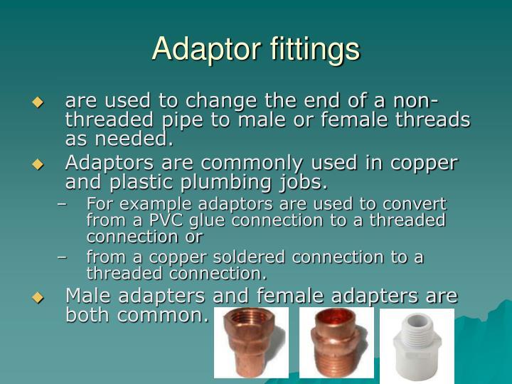 Adaptor fittings