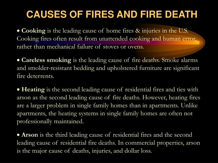 CAUSES OF FIRES AND FIRE DEATH