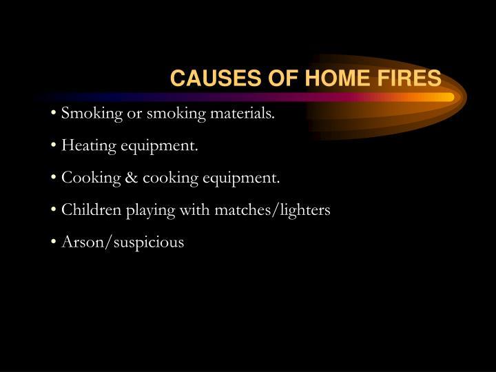 Smoking or smoking materials.