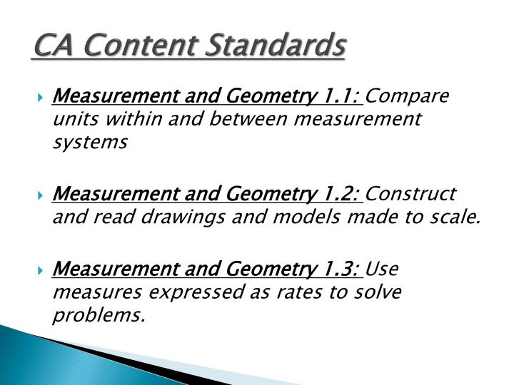 CA Content Standards