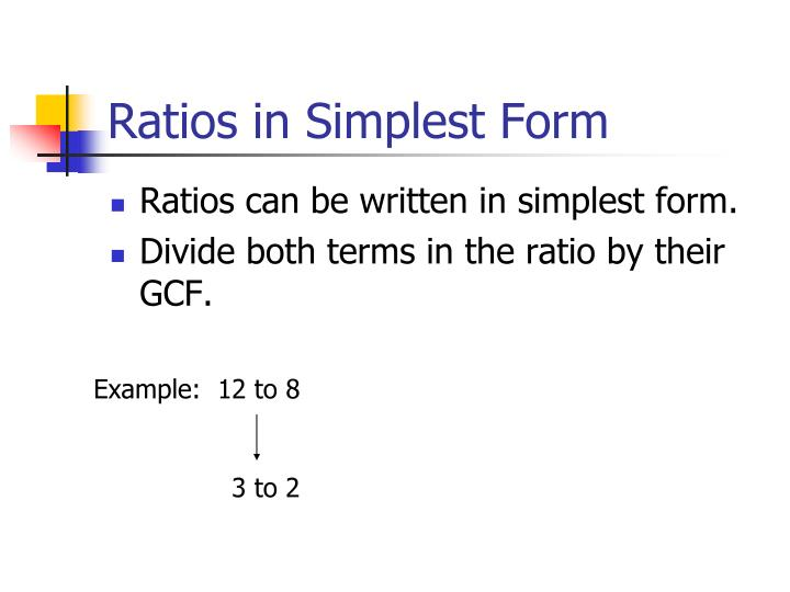 Ratios in Simplest Form
