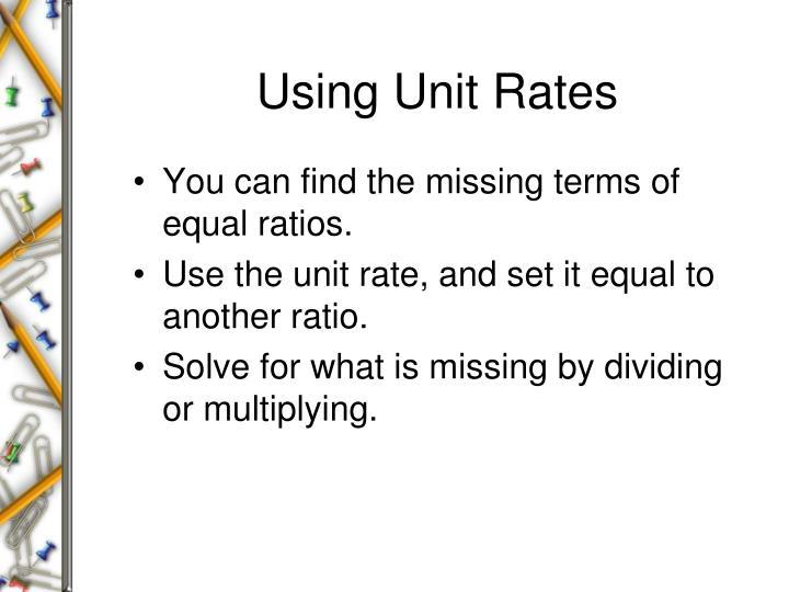 Using Unit Rates