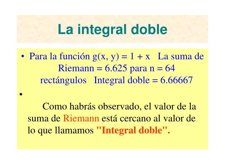 La integral doble