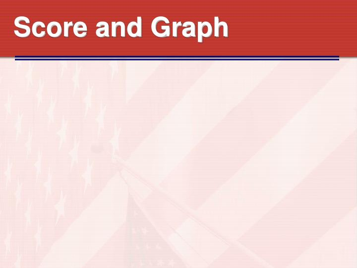 Score and Graph