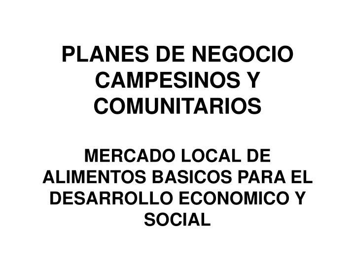 PLANES DE NEGOCIO