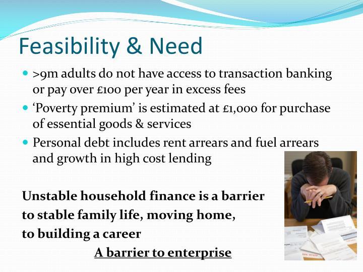 Feasibility & Need