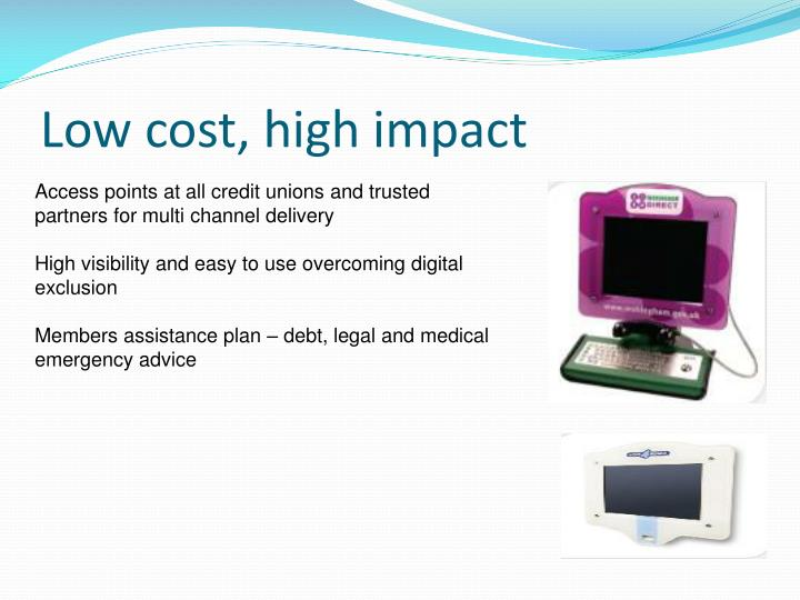 Low cost, high impact