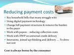 reducing payment costs