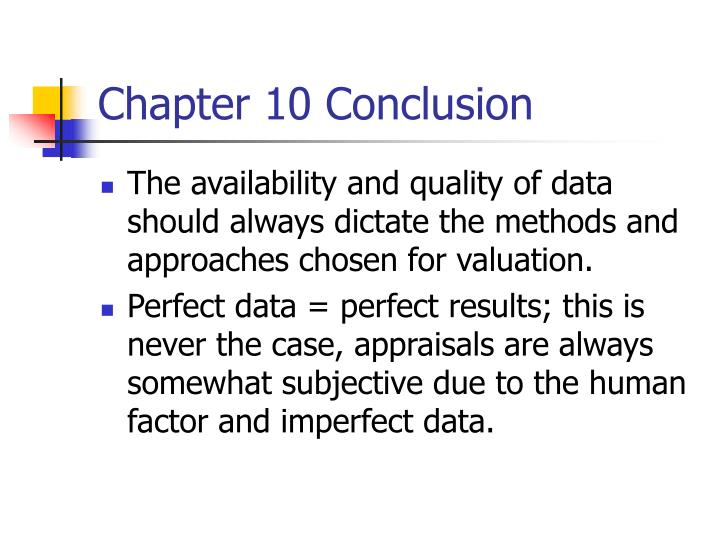 Chapter 10 Conclusion