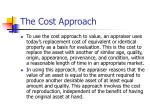 the cost approach2