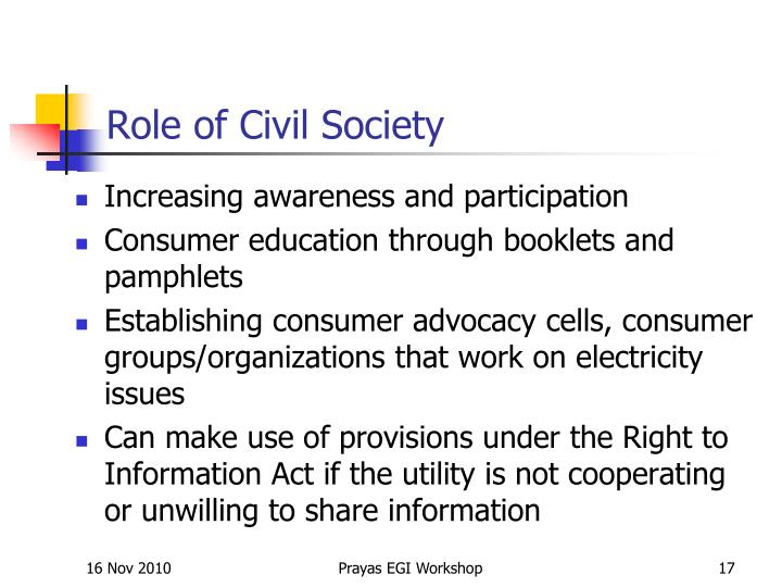 Role of Civil Society