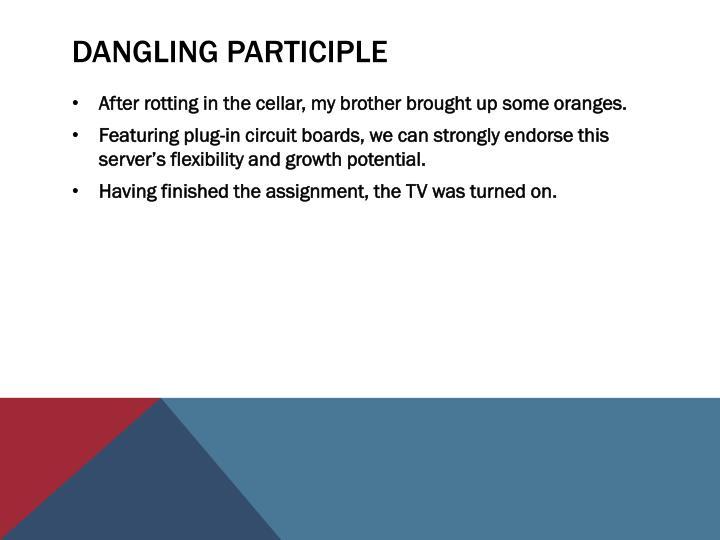 Dangling Participle