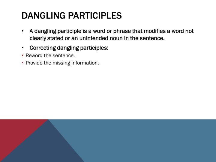 Dangling Participles