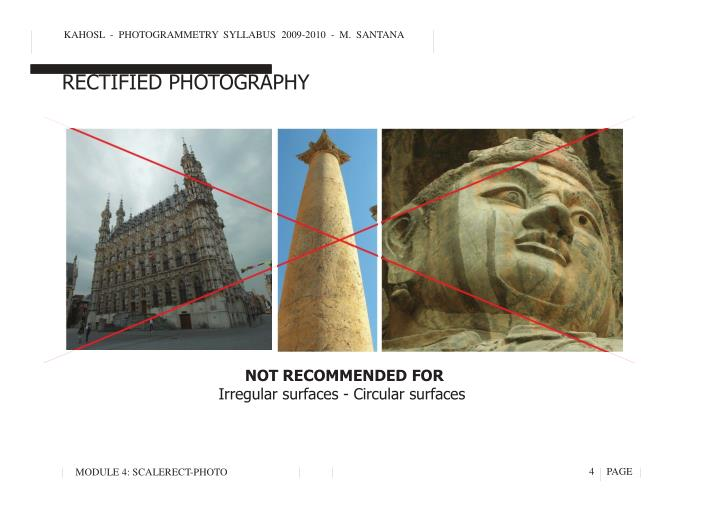 KAHOSL  -  PHOTOGRAMMETRY  SYLLABUS  2009-2010  -  M.  SANTANA