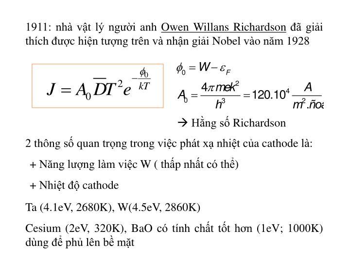 1911: nhà vật lý người anh