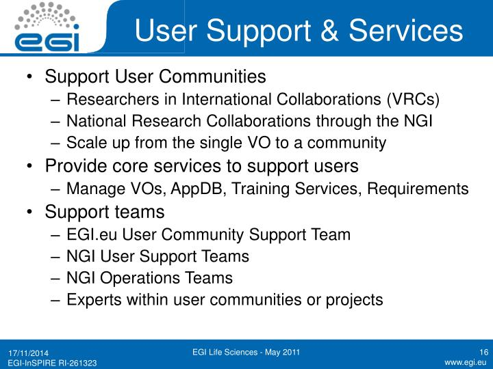 User Support & Services