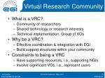 virtual research community